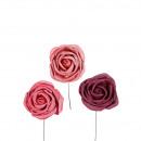 Mousse Rose Angelika sur le fil, le diamètre 5cm,